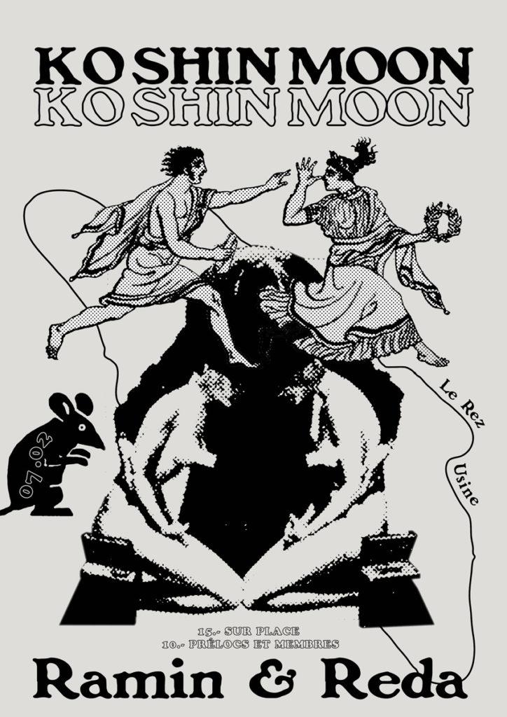Poster concert Ko Shin Moon + Ramin & Reda à Le Rez-Usine Genève - Février 2020
