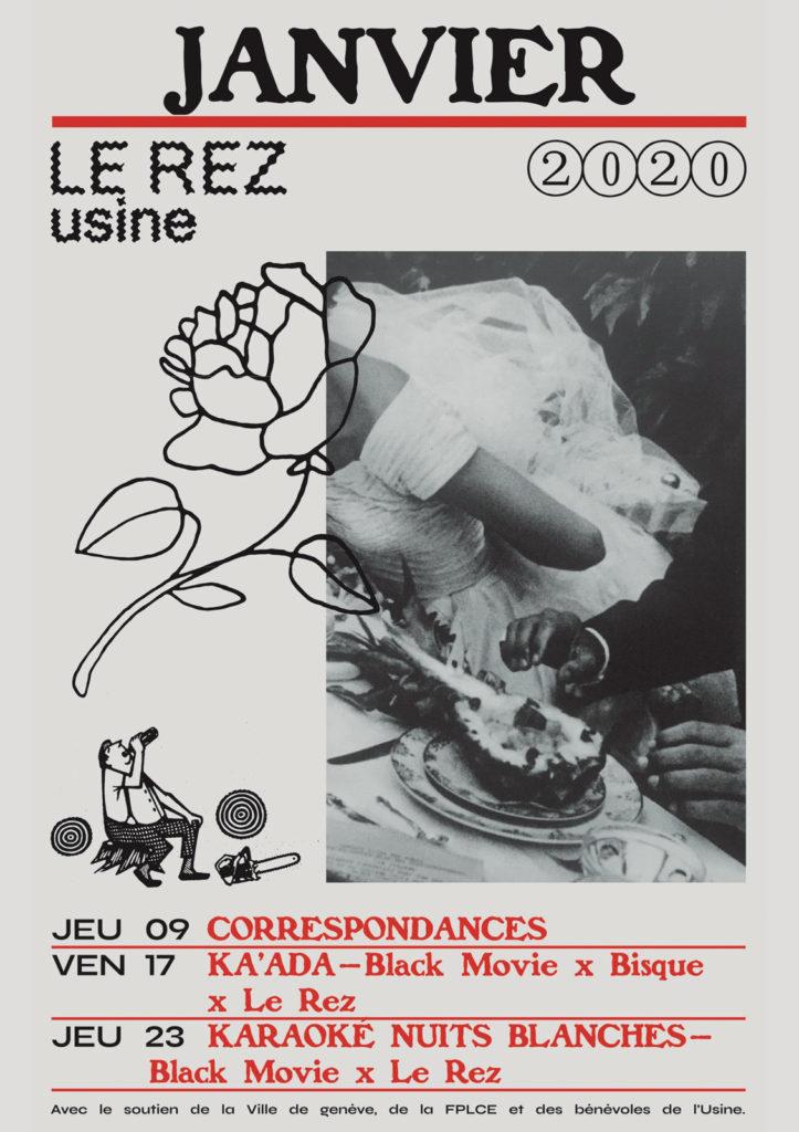Affiche Programme Le Rez-Usine Janvier 2020