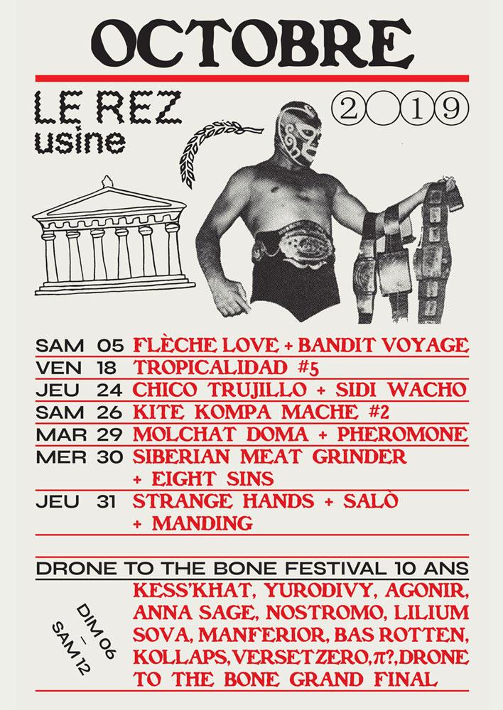 Le Rez-Usine Genève - Programme concerts octobre 2019