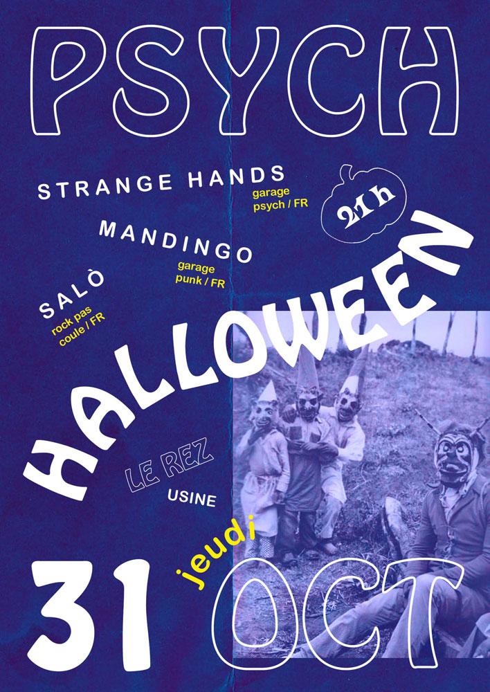 Strange Hands Psych Halloween Le Rez-Usine Genève
