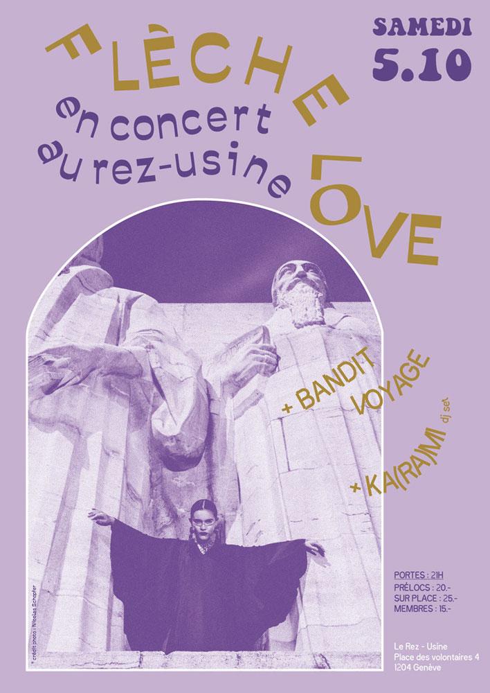 Flèche Love Concert Rez-Usine Genève