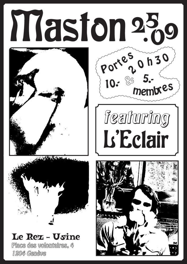 Maston et L'Eclair en concert à Le Rez-Usine Genève