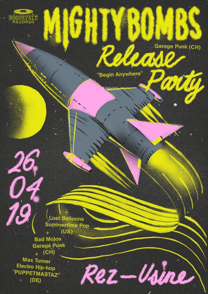 Mighty Bombs au Rez-Usine Genève avril 2019