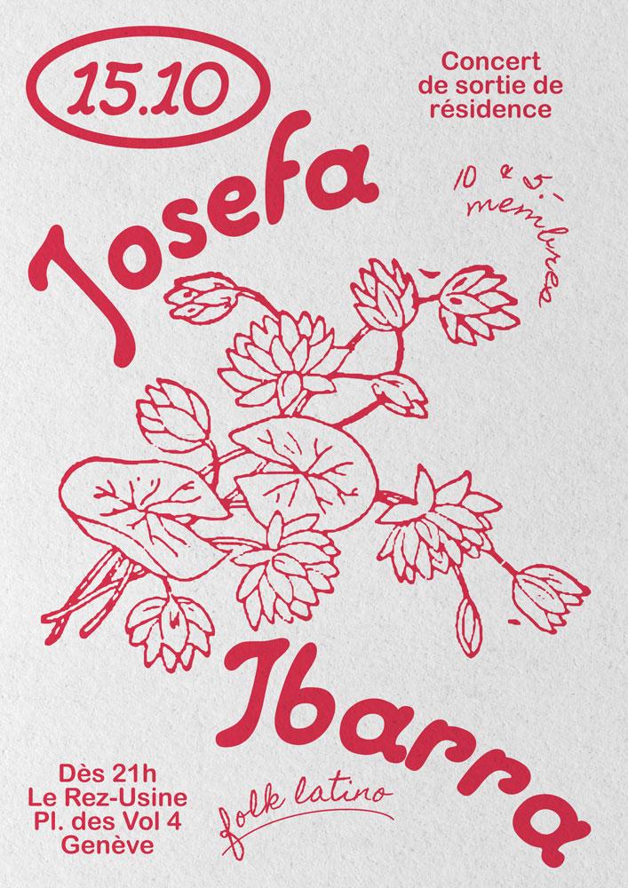 Josefa Ibarra concert Usine